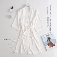 Load image into Gallery viewer, Chinese Women Rayon Embroidery Bride Bridesmaid Kimono Bathrobe Dress Sexy Mini Sleep Nightshirt Sleepwear Wedding Robes S0102
