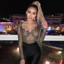 Load image into Gallery viewer, Fashion Patchwork Mesh Long Sleeve Teddy 2019 New Women's Clothes
