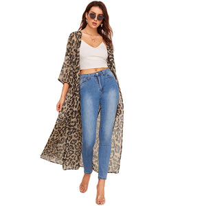 Cardigan Women Long Blouse 2019 Spring Summer Casual Vacation Kimonos