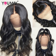 Load image into Gallery viewer, 13x6 Lace Front Human Hair Wigs For Women 250 Density Brazilian Body Wave 360 Lace Frontal Wigs Pre Plucked Baby Hair You May