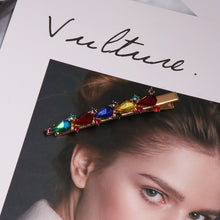 Load image into Gallery viewer, JUJIA 2019 New Fashion Crystal Hairpin Shiny Rhinestones za Hair Clips Hair Accessories For Women Girls Barrettes