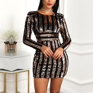 Sexy Bodycon Dresses Elegant Autumn Winter Nightclub