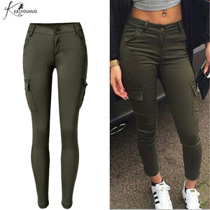 Low Waisted Sports Cargo Pants Sweatpants For Women Slim Joggers Women Trousers Plus Size Military Army Camouflage Female Pants