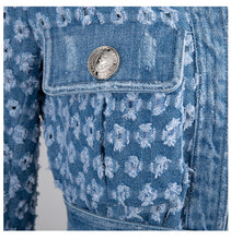 Load image into Gallery viewer, Denim Jacket New Lapel Long Sleeve Women  Coat Fashion Tide Autumn Winter 2019 JZ281