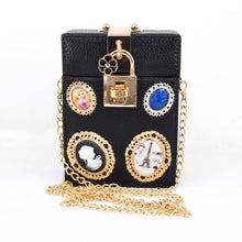 Load image into Gallery viewer, Bag Lock Box Clutch Bag Ladies Boutique Bags Packet Women Mini Box Handbags