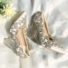Load image into Gallery viewer, Wedding Shoes Bride Clear Heels Crystal Eveni Heel