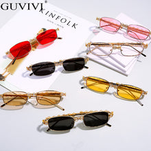 Load image into Gallery viewer, Rectangle Rhinestone Sunglasses Women Fashion Steampunk Diamond Sun Glasses Crystal Vintage Shades Eyeglasses UV400 Oculos