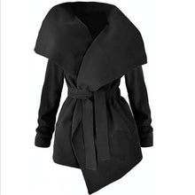 Load image into Gallery viewer, Winter Coats WomJackets Sexy V Neck Belt Lace-up Solid Casual Slim Overcoats Female Outer