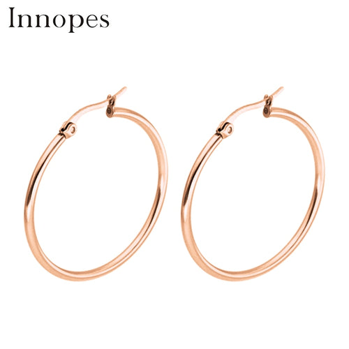 gold earrings fashion stainless steel jewelry womangs
