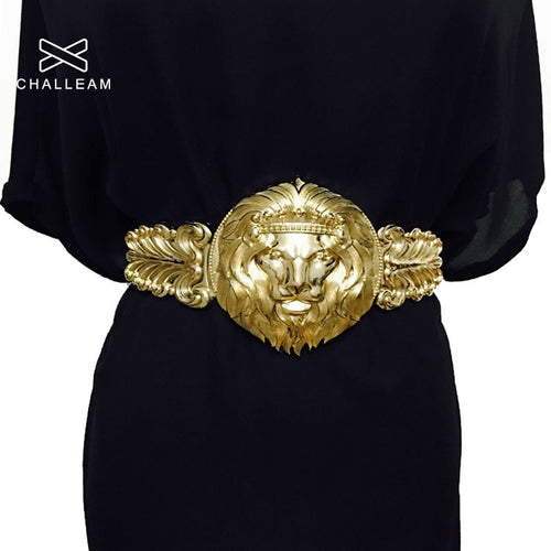 Golden Waist Belts Fashion Women's Metal Wide Waistband Female Luxury Brand Designer Ladies Elastic Belt For Dress 08