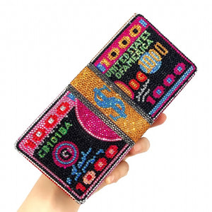 Novelty Colorful Lipstick Portable Evening Bags Clutch Pouch Purse Handbags Cell Phone Wrist Handbags For Womens