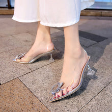 Load image into Gallery viewer, Luxury Women Pumps 2019 Transparent High Heels Sexy Pointed Toe Slip-on Wedding Party Brand Fashion Shoes For Lady Size 34-41