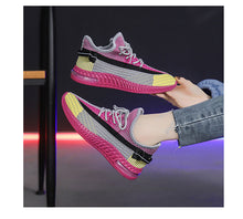 Load image into Gallery viewer, Spring new women's shoes, wild sports shoes, women's elastic fabric + solid mesh women's shoes, women's casual sports shoes
