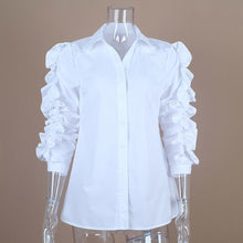 Load image into Gallery viewer, Blouse Female Lapel Collar Patchwork