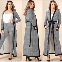 Load image into Gallery viewer, New Arrival 3 Pieces Set Women Crop Top&Pencil Pants&Jacket Fashion Clelebrity Office Lady Elegant Patchwork Long Sleeves Casual