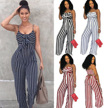 Load image into Gallery viewer, Newly Women Jumpsuit Lady Strap Stripe Romper womens Jumpsuit Bodysuit Bodycon Party streetwear Outfit Clothes