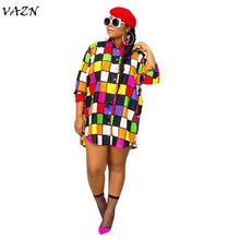 Load image into Gallery viewer, colorful shirt dress