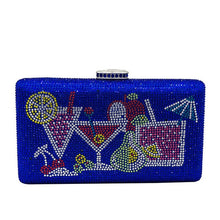 Load image into Gallery viewer, Handbags Diamond Cocktail Clutch Wedding Party Bridal Handbag Bag