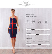 Load image into Gallery viewer, Adyce 2019 New Summer Women Bodycon Bandage Dress Vestidos Elegant Blue Spaghetti Strap Nightclub Dress Celebrity Party Dresses