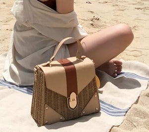NEW Rattan bag Small Handmade Straw Bag Popular Beach Bag for Women Crossbody Ata Handbag Luxury Designer Shopping Bags