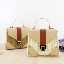 Load image into Gallery viewer, NEW Rattan bag Small Handmade Straw Bag Popular Beach Bag for Women Crossbody Ata Handbag Luxury Designer Shopping Bags