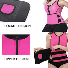 Load image into Gallery viewer, NEW Neoprene Sauna Vest Body Shaper Slimming Waist Trainer Hot Shaper Fashion Workout Shapewear Adjustable Sweat Belt Corset