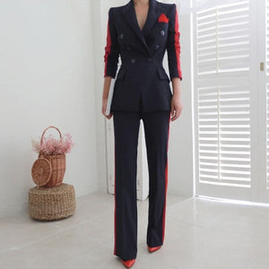 New arrival women high quality temperament fashion wild suit slim pant comfortable thick warm trend outdoor office pant suits