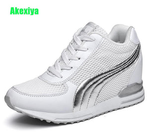 Akexiya Women High Heels Spring Autumn Fashion Casual Wedge Sneakers Woman Height Increasing Platform Shoes Zapatillas Deportiva
