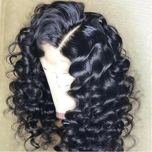 Wavy Lace Front Wigs 360 Lace Frontal Human Hair Wigs For Women Black 180% Density Preplucked Natural Hairline Aimoonsa Remy