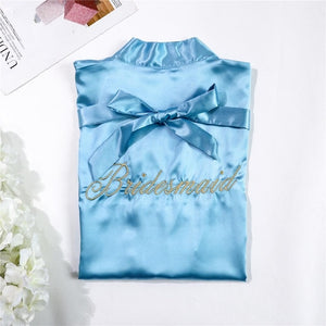 Chinese Women Rayon Embroidery Bride Bridesmaid Kimono Bathrobe Dress Sexy Mini Sleep Nightshirt Sleepwear Wedding Robes S0102