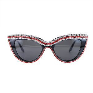 Cat Eye Sunglasses Diamond Sun Glasses Crystal Ladies Girls Sunglass Bling Shades Oculos de sol Drop shipping