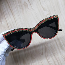 Load image into Gallery viewer, Cat Eye Sunglasses Diamond Sun Glasses Crystal Ladies Girls Sunglass Bling Shades Oculos de sol Drop shipping