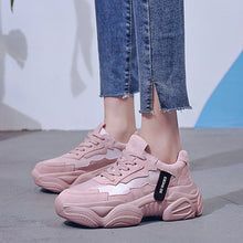 Load image into Gallery viewer, 2019 Women Chunky Sneakers Fashion Women Platform Shoes Lace Up Pink Vulcanize Shoes Womens Trainers Casual Shoes Zapatos Mujer