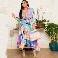 Load image into Gallery viewer, Africa Clothing African Suit For Women Sets New African Print Elastic Bazin Baggy Skirts Rock Style Dashiki Sleeve Suit For Lady