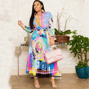 Africa Clothing African Suit For Women Sets New African Print Elastic Bazin Baggy Skirts Rock Style Dashiki Sleeve Suit For Lady