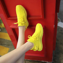 Load image into Gallery viewer, New Designer Sneakers Women Platform Sneakers Casual Shoes Women 2019 Fashion Flying Women Sneakers Yellow Luxury Basket Femme