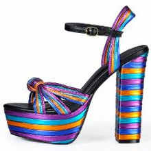 Load image into Gallery viewer, Sinsaut Summer Shoes Woman Heel Sandal High Heels Wedges Sandals Women Platform Sandals Square Heel Wedges Shoes For Women