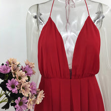 Load image into Gallery viewer, White Dress Summer Red Beach Boho Maxi Long Dress Elegant Bridesmaid Split Party Dresses