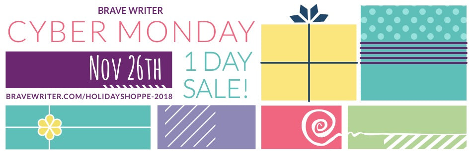 Brave Writer Cyber Monday Sale