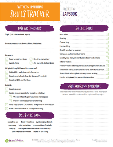 Partnership Writing Planner
