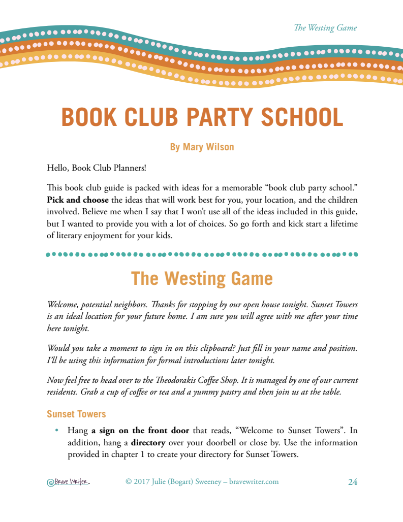 The Westing Game   Brave Writer