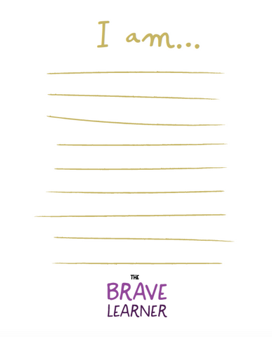 "Brave Learner ""You Are"" Cards"