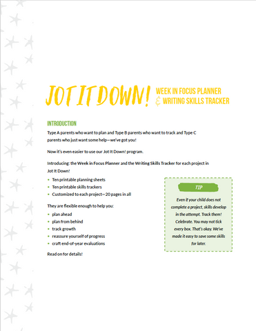 Jot It Down! Planner