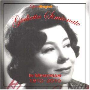 Compilation: Giulietta Simionato - A tribute. Arias and scenes from Aida, Trovatore, Ballo, Barbiere, and more