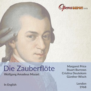 Mozart: Die Zauberflöte - M. Price, Burrows, Deutekom, Bryn-Jones, Ward, Robinson; Wisch. London, 1968