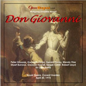 Mozart: Don Giovanni - Glossop, Evans, Fine, G. Jones, Burrows, Cahill, Lloyd, Howell; C. Davis.  London, 1973