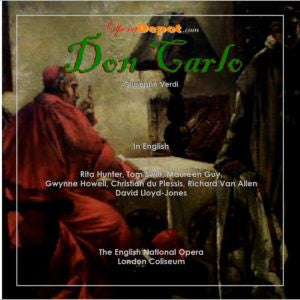 Verdi: Don Carlo (In English) - Hunter, Swift, Guy, Howell, Van Allen, Du Plessis; Lloyd-Jones.  ENO, 1974