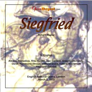 Wagner: Siegfried (In English) - Remedios, Hunter, Garrard, Dempsey, Hammond-Stroud, Grant, Masterson; Goodall. London, 1973