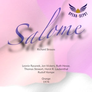 Strauss: Salome - Rysanek, Vickers, Stewart, Hesse; Kempe.  Orange, 1974