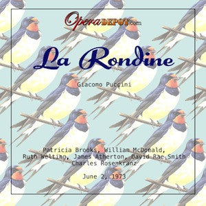 Puccini: La Rondine (In English) - Brooks, McDonald, Welting, Atherton, Smith; Rosenkranz.  1973